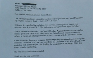 Letter to Nancy Krier