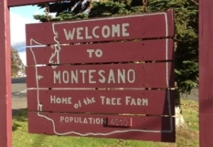 Montesano City Sign