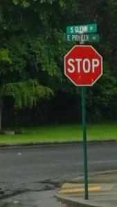 Montesano Pioneer Stop Sign 2