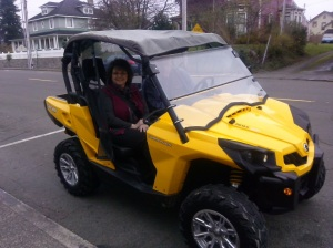 Commissioner Vickie Raines preps for next trek to the frozen tundra, ATV-style.