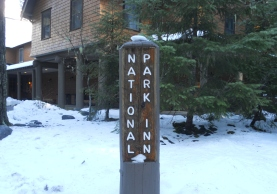 Christmas Eve National Park Inn Signpost