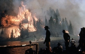 White Lake fire camp A; Photographer unknown; 1953
